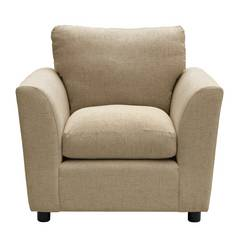 Argos Home Carter Fabric Chair - Taupe