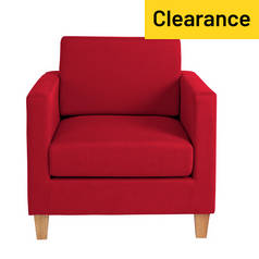 Argos Home Rosie Fabric Chair - Red