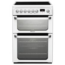 Hotpoint HUE61PS Double Electric Cooker - White