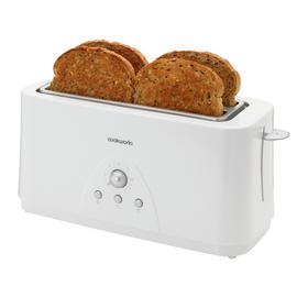 Cookworks Long Slot 4 Slice Toaster - White