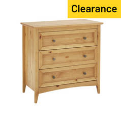 Argos Home Camborne 3 Drawer Chest - Oak Stain