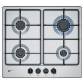 Neff T26BB46N0 Cast Iron Support Gas Hob - Stainless Steel