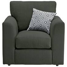 HOME Cora Fabric Chair - Charcoal