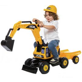 JCB Excavator Trailer and Helmet Ride On