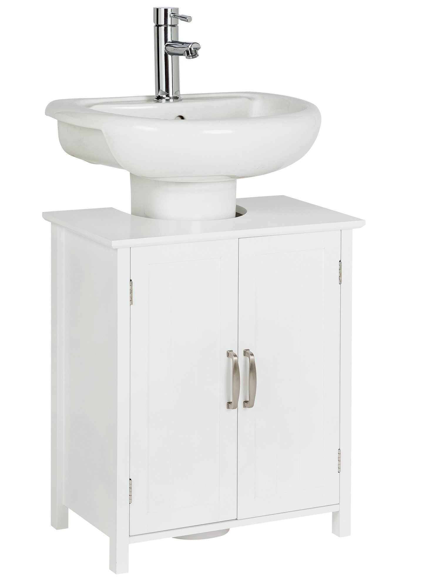 Collection Tongue And Groove Undersink Storage Unit   White