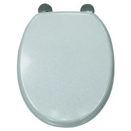 Croydex Quartz Flexi-Fix Toilet Seat - Silver