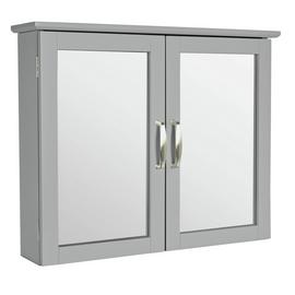 Argos Home New Tongue and Groove Mirrored Wall Cabinet -Grey