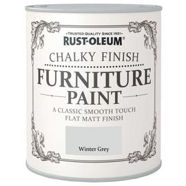 Rust-Oleum Chalky Matt Furniture Paint 750ml - Winter Grey