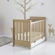 more details on Obaby Stamford Mini Retro Cot Bed - Iced Coffee with White