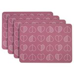 more details on Beau and Elliot Outline Set of 4 Placemats - Pink.