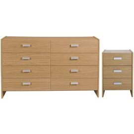 Argos Home Capella Bedside Table & 4+4 Drawer Chest Set