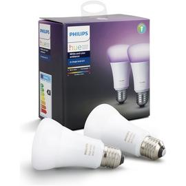 Philips Hue White and Colour Ambience E27 Bulb Twin Pack.