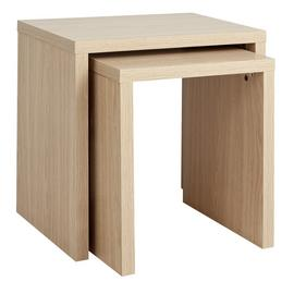Argos Home Oscar Nest of 2 Tables - Oak Effect