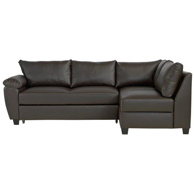 Buy Argos Home Fernando Right Corner Sofa Bed - Dark Brown   Sofa beds    Argos