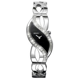 Seksy Ladies' 4276 Black Swirl Dial Bracelet Watch