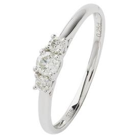 Revere 9ct White Gold 0.25ct tw Diamond Trilogy Ring