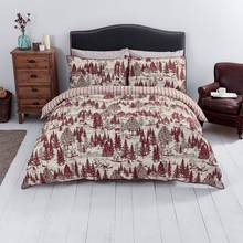 Sainsbury's Home Red Toile Printed Bedding Set - Double