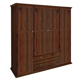 Argos Home Canterbury 4 Door 2 Drawer Wardrobe - Walnut Eff