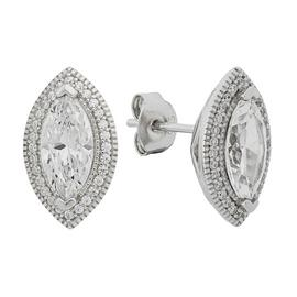 Revere Platinum Plated Silver 2.00ct Look Marquise Studs