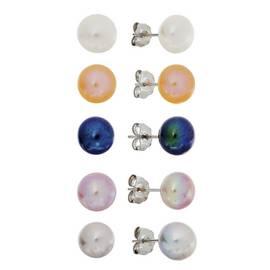 67773a43b9712c Revere Sterling Silver Set of 5 Pearl Stud Earrings