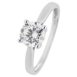 Revere 9ct White Gold 1ct Look Cubic Zirconia Ring