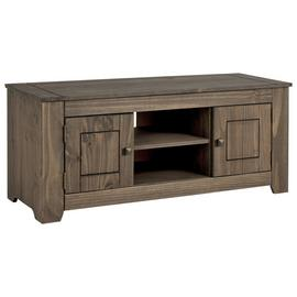 Argos Home Amersham Large Solid Wood TV Unit - Dark Pine