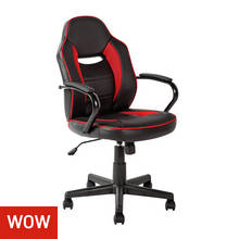 HOME Mid Back Office Chair - Red & Black