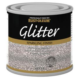Rust-Oleum Glitter Special Effect Paint 125ml - Silver