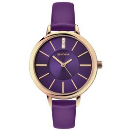 Sekonda Editions Purple Dial Rose Gold Case Purple Strap Ladies Watch 2497 Best Price and Cheapest