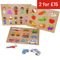 Chad Valley PlaySmart Wooden Puzzles