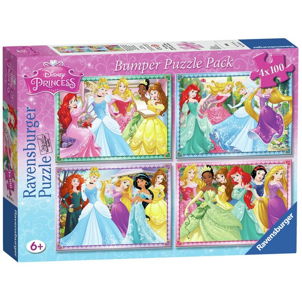 Buy Ravensburger Disney Princess 100 Piece Puzzle - 4 Pack | Puzzles and  jigsaws | Argos