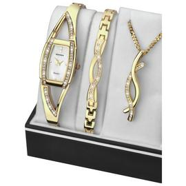 Sekonda Ladies' Gold Plated Bracelet, Pendant and Watch Set