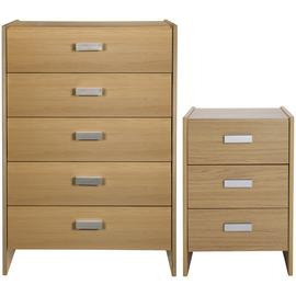 Argos Home Capella Bedside Table & 5 Drawer Chest Set