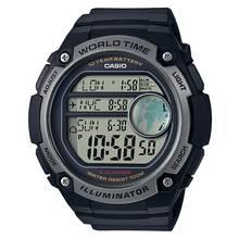Casio Men's World Time Digital Black Resin Strap Watch