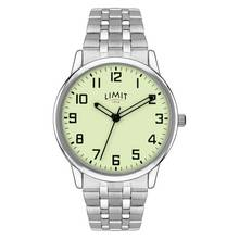 Limit Men's Silver Coloured Luminous Dial Bracelet Watch