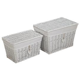 Argos Home Set of 2 White Willow Baskets