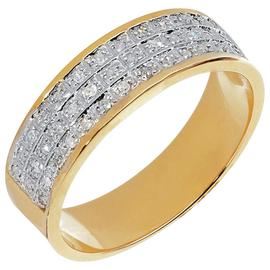 Revere Mens 9ct Gold 0.20ct tw Diamond Band Ring
