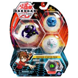 Bakugan Starter Pack - Dragonoid Black, Lion, T-Rex
