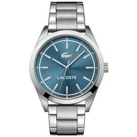08cdcb7e2 Lacoste Edmonton Men's Silver Stainless Steel Bracelet Watch