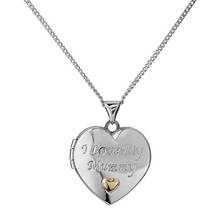 Moon & Back Silver & 9ct Gold PLated I Love My Mummy Locket