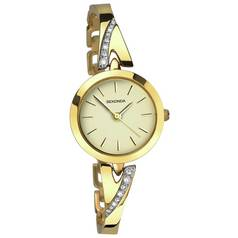 Sekonda Ladies' Champagne Dial Stone Set Gold Plated Watch