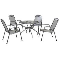Royal Garden Savoy 4 Seater Metal Patio Set
