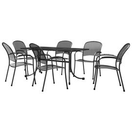 Royal Garden Carlo 6 Seater Metal Patio Set