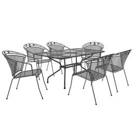 Royal Garden Elegance 6 Seater Metal Patio Set