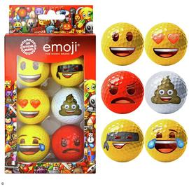 Emoji Official Novelty Fun Golf Balls - 6 Pack