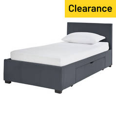 Argos Home Lavendon Grey Single 1 Drawer Bed Frame