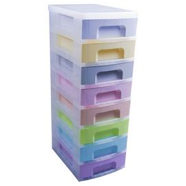 Really Useful 8 Drawer Storage Tower - Pastels