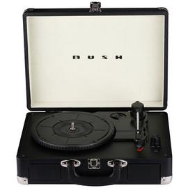Bush Classic Retro Portable Case Record Player - Black