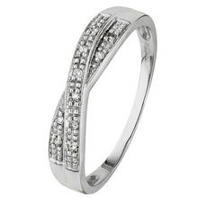 188b6494b ... australia argos revere 9ct white gold diamond accent crossover eternity  ring 1f64e 5efd3