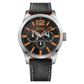086b2bf41cef Hugo Boss Orange Paris Men's Black Leather Strap Watch